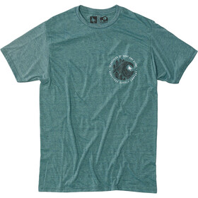 Hippy Tree Brushstroke Camiseta Hombre, heather teal
